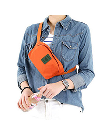 Slacks Orange Pure Color Multifunctional Simple Design(small) Pv Cloth Other Creative Stationery