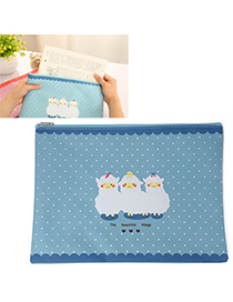 Lightning Blue Sheep Pattern Simple Design Oxford Pencil Case Paper Bags