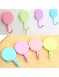 Detachable Random Color Pure Color Round Shape Design Plastic Household Goods