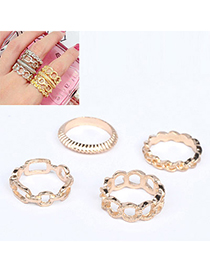 Bohemian Gold Color Chain Shape Decorated Simple Design