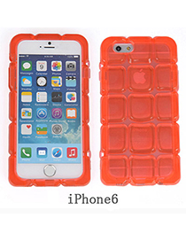latest Transparent Orange Ice Block Shape Simple Design Pc Iphone 6