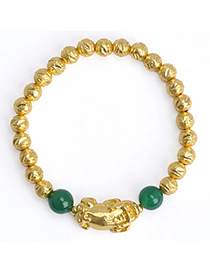 noble Green Beads Decorated Brave Troops Shape Design