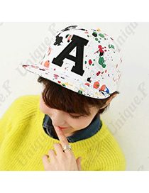 Graffiti White Letter A Pattern Simple Design Canvas Baseball Caps