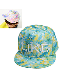 latest style Green Letter & Printing Pattern Simple Design Canvas Baseball Caps