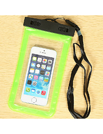 transparent Green Rectangle Shape Waterproof Case Design