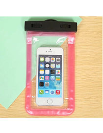 Transparent Plum Red Rectangle Shape Waterproof Case Design Pp Household Goods