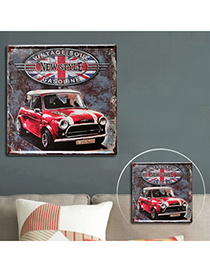 Vibrant Multicolor Mini Car Pattern Metal Painting Design Iron Sheet Household goods