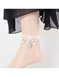 Fashion Silver Color Coins Shape Decorated Pure Color Anklet