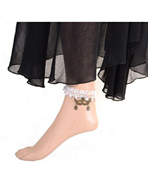 Fashion Silver Color Hollow Out Decorated Anklet (1pcs)