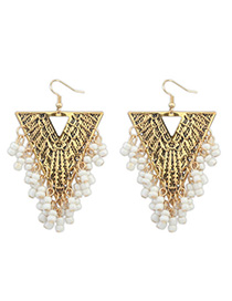 Best White Beads Decorated Triangle Shape Design