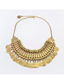 Statement Antique Gold Coins Decorated Tassel Design