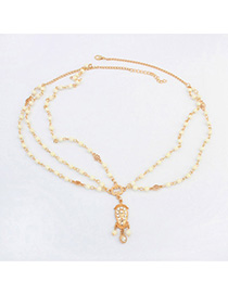Fit Beige Beads Decorated Simple Design