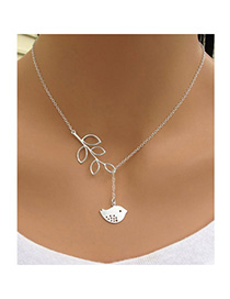 Hot Silver Color Bird Leaf Shape Decorated Simple Design Alloy Chains