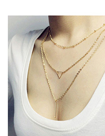Wool Gold Color Triangle Shape Decorated Simple Design Alloy Chains