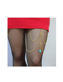Tribal Gold Color Waterdrop Shape Decorated Simple Design