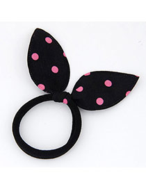 Fashion Black Dot Pattern Decorated Bowknot Shape Design Fabric Hair Band Hair Hoop