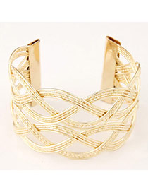 High-quality Gold Color Hollow Out Weave Design