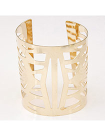 Latest Style Gold Color Pure Color Hollow Out Design