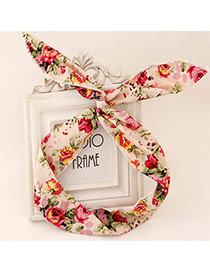 Fancy Multicolor Flower Pattern Simple Design Fabric Hair band hair hoop