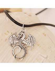 Concise Gun Black Dragon Shape Pendant Decorated Simple Design Alloy Pendants