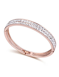 Luxurious White Diamond Decorated Simple Design Crystal+ alloy Crystal Bracelets