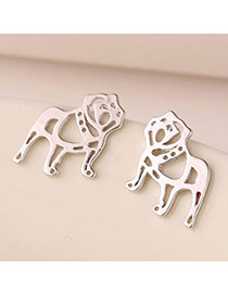 Personalized Silver Color Leopard Shape Hollow Out Design(anti-allergy)  Cuprum Stud Earrings