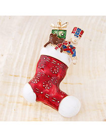 Sweet Red Boots Shape Simple Design Alloy Korean Brooches