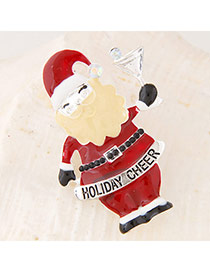 Sweet Red Santa Claus Shape Simple Design Alloy Korean Brooches