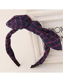 Sweet Navy Blue+plum Red Bowknot Decorated Simple Design  Fabric Hair band hair hoop