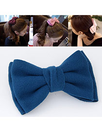 Sweet Blue Pure Color Bowknot Shape Design  Alloy Hair clip hair claw