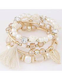 Sweet Apricot Multi-element Decorated Multilayer Design