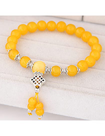 Sweet Yellow Beads Decorated Simple Design  Rosin Korean Fashion Bracelet