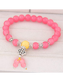 Sweet Watermelon Red Beads Decorated Simple Design  Rosin Korean Fashion Bracelet