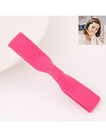 Sweet Plum Red Pure Color Bowknot Shape Design  Fabric Hair clip hair claw