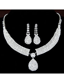Fashion White Water Drop Pendant Decorated Simple Design