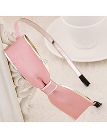 Exquisite Pink Big Bowknot Decorated Simple Design  Alloy Hair band hair hoop