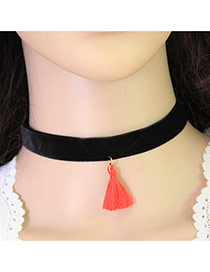 Trending Red Tassel Decorated Simple Design