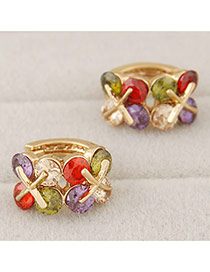Sweet Multi-color Butterfly Shape Diamond Decorated Simple Design
