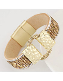 Fashion Champagne Diamond Decorated Buckle Shape Design