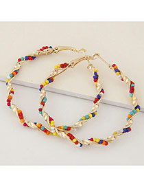Fashion Multicolor Beads Decorated Twine Design