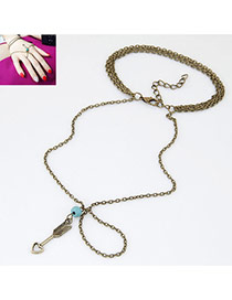 Vintage Light Blue Arrow&beads Pendant Decorated Simple Design