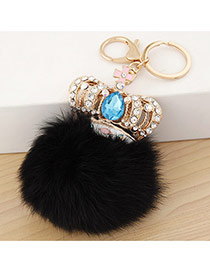 Fashion Black Crown&fuzzy Ball Decorated Simple Design Alloy Fashion Keychain