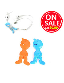 Personality Orange + Blue Candy Color Human Shape Design