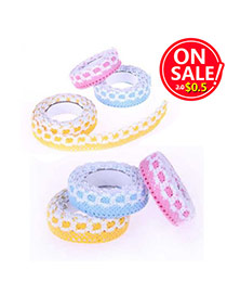 Partysu Random Color Flower Pattern Decorated Lace Design