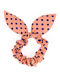 Cute Postercolor Dot Patttern Bowknot Shape Design Rubber Band Hair Band Hair Hoop