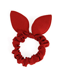 Pretty Claret-red Pure Color Bowknot Shape Design Rubber Band Hair band hair hoop