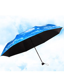 Wholesale Blue Sky Pattern Umbrella Design