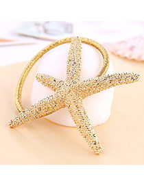High-quality Gold Color Star Shape Decorated Simple Design Alloy Hair band hair hoop