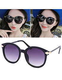 Occident Black Arrow Shape Round Frame Design
