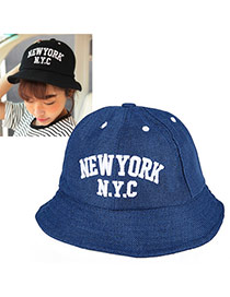 High-quality Navy Blue Letter New York Nyc Pattern Simple Design